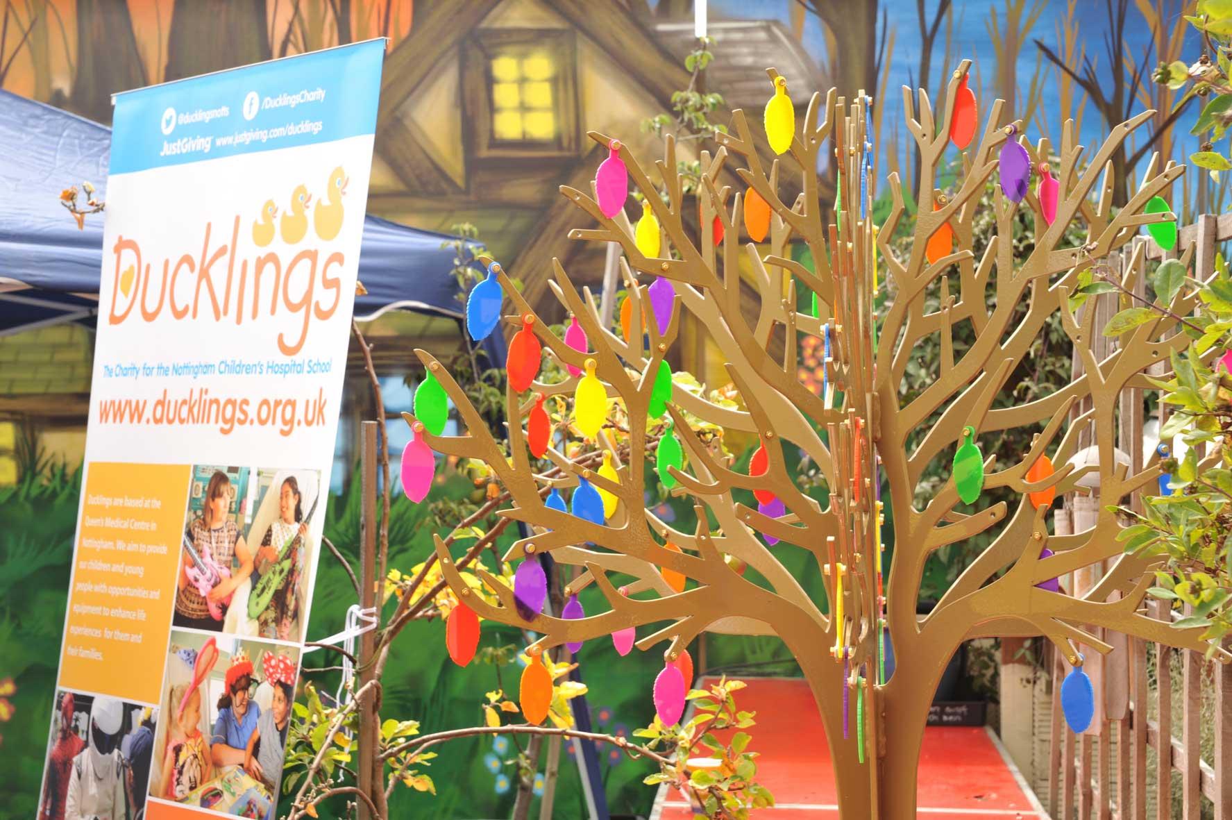 memorial tree Ducklings charity